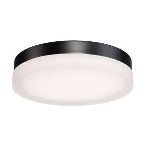 Circa Black 11-Inch 3500K LED ADA Outdoor Flush Mount