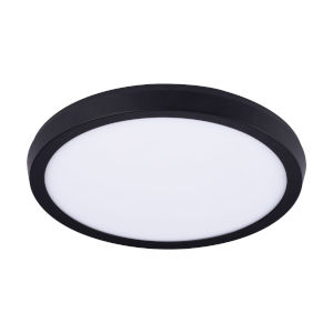 Argo Black 11-Inch LED Flush Mount
