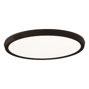 Argo Black 15-Inch LED Flush Mount