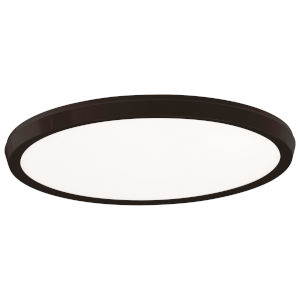 Argo Black 19-Inch LED Flush Mount