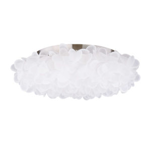 Fluffy Brushed Nickel LED Flush Mount