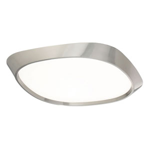 Issa Brushed Nickel 14-Inch LED Flush Mount