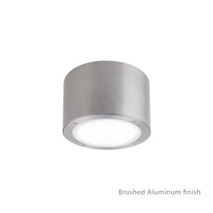 Vessel Brushed Aluminum 6-Inch 4000K LED ADA Outdoor Outdoor Flush Mount
