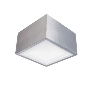 Bloc Brushed Aluminum LED 2700K Outdoor Flush Mount