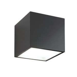 Bloc Black LED 2700K Outdoor Flush Mount