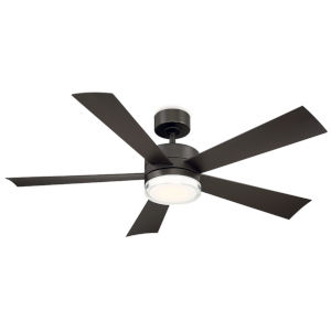 Wynd Bronze 52-Inch 3000K LED Downrod Ceiling Fans