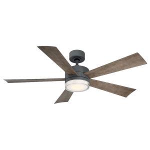 Wynd Graphite 52-Inch 3500K LED Downrod Ceiling Fans