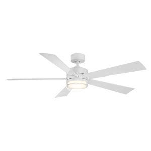 Wynd Matte White 60-Inch ADA LED Ceiling Fan, 2700K