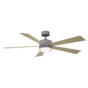 Wynd Graphite and Weathered Gray 60-Inch ADA LED Ceiling Fan, 2700K