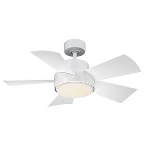 ELF Matte White 38-Inch 2700K LED Downrod Ceiling Fans