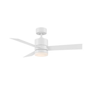 Axis Matte White 44-Inch ADA LED Ceiling Fan, 2700K
