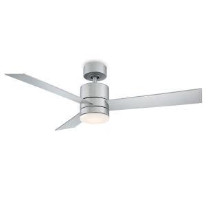 Axis Titanium Silver 52-Inch 3000K LED Downrod Ceiling Fans