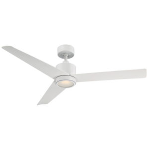 Lotus Matte White 54-Inch 3000K LED Downrod Ceiling Fans