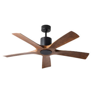 Aviator Matte Black and Distressed Koa 54-Inch ADA LED Ceiling Fan