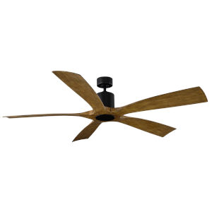 Aviator Matte Black and Distressed Koa 70-Inch ADA LED Ceiling Fan