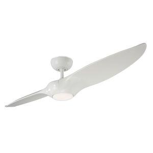 Morpheus II Gloss White 60-Inch 3500K LED Downrod Ceiling Fans
