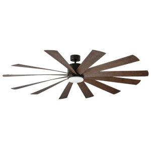 Windflower Oil Rubbed Bronze 80-Inch 3000K LED Downrod Ceiling Fans