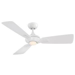 Mykonos Matte White 52-Inch 3000K LED Downrod Ceiling Fans