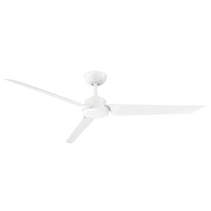 Roboto Matte White 62-Inch Downrod Ceiling Fans