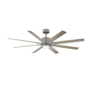 Renegade Graphite and Weathered Wood 52-Inch ADA LED Ceiling Fan, 2700K