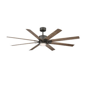 Renegade Oil Rubbed Bronze and Barn Wood 52-Inch ADA LED Ceiling Fan, 2700K