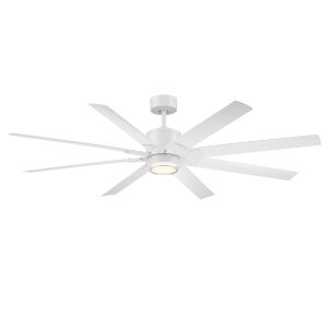 Renegade Matte White 66-Inch ADA LED Ceiling Fan, 2700K