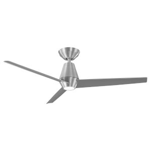 Slim Brushed Aluminum 52-Inch ADA LED Ceiling Fan, 2700K