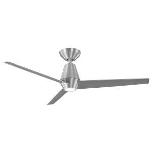 Slim Brushed Aluminum 52-Inch ADA LED Ceiling Fan, 3500K