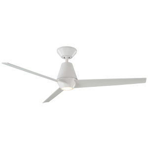 Slim Matte White 52-Inch ADA LED Ceiling Fan