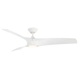 Zephyr Matte White 62-Inch ADA LED Ceiling Fan