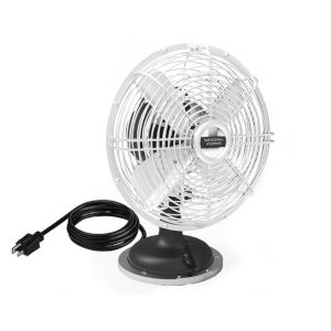 Oscillating Plug-In 18-Inch Desk Fan with Three Speed Motor Control