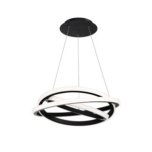 Veloce Black 26-Inch LED Chandelier