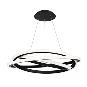 Veloce Black 38-Inch LED Chandelier