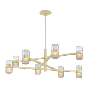 Jazz Brushed Brass 40-Inch LED Chandelier