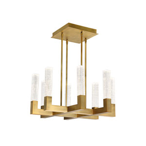 Cinema Aged Brass 26-Inch LED Chandelier