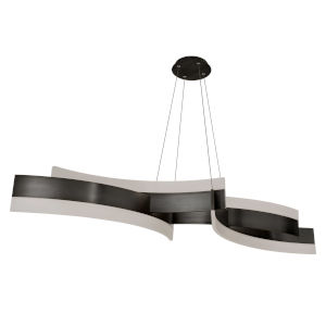 Arcs Black LED Chandelier