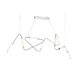 Firefly Polished Nickel  65-Inch LED Multi-Light Pendant