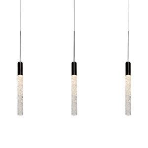 Magic Black Three-Light LED Mini Pendant