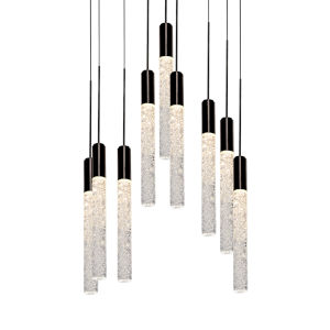 Magic Black Nine-Light LED Pendant
