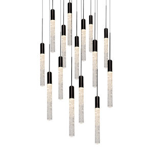 Magic Black 15-Light LED Pendant