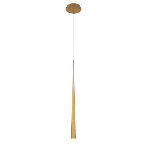 Cascade Aged Brass 28-Inch LED Mini Pendant