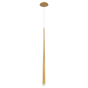 Cascade Aged Brass 37-Inch LED Mini Pendant