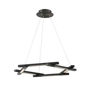 Metric Black 8-Inch LED Mini Pendant