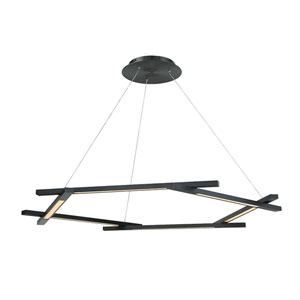 Metric Black 12-Inch LED Pendant