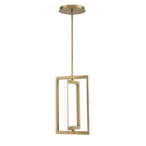 Aged Brass 12-Inch Four-Light LED Pendant