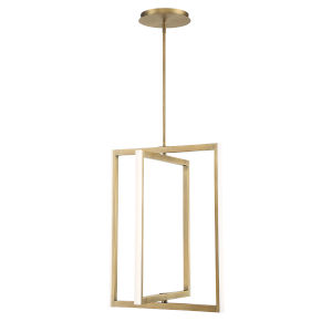 Aged Brass 20-Inch Four-Light LED Pendant