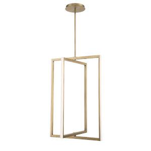 Aged Brass 24-Inch Four-Light LED Pendant