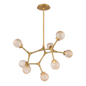 Catalyst Aged Brass Eight-Light  Chandelier