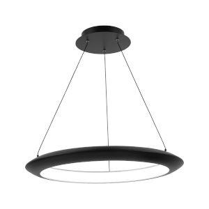 The Ring Black 24-Inch LED 3000K Chandelier
