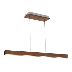 Drift Dark Walnut 3-Inch LED Linear Pendant